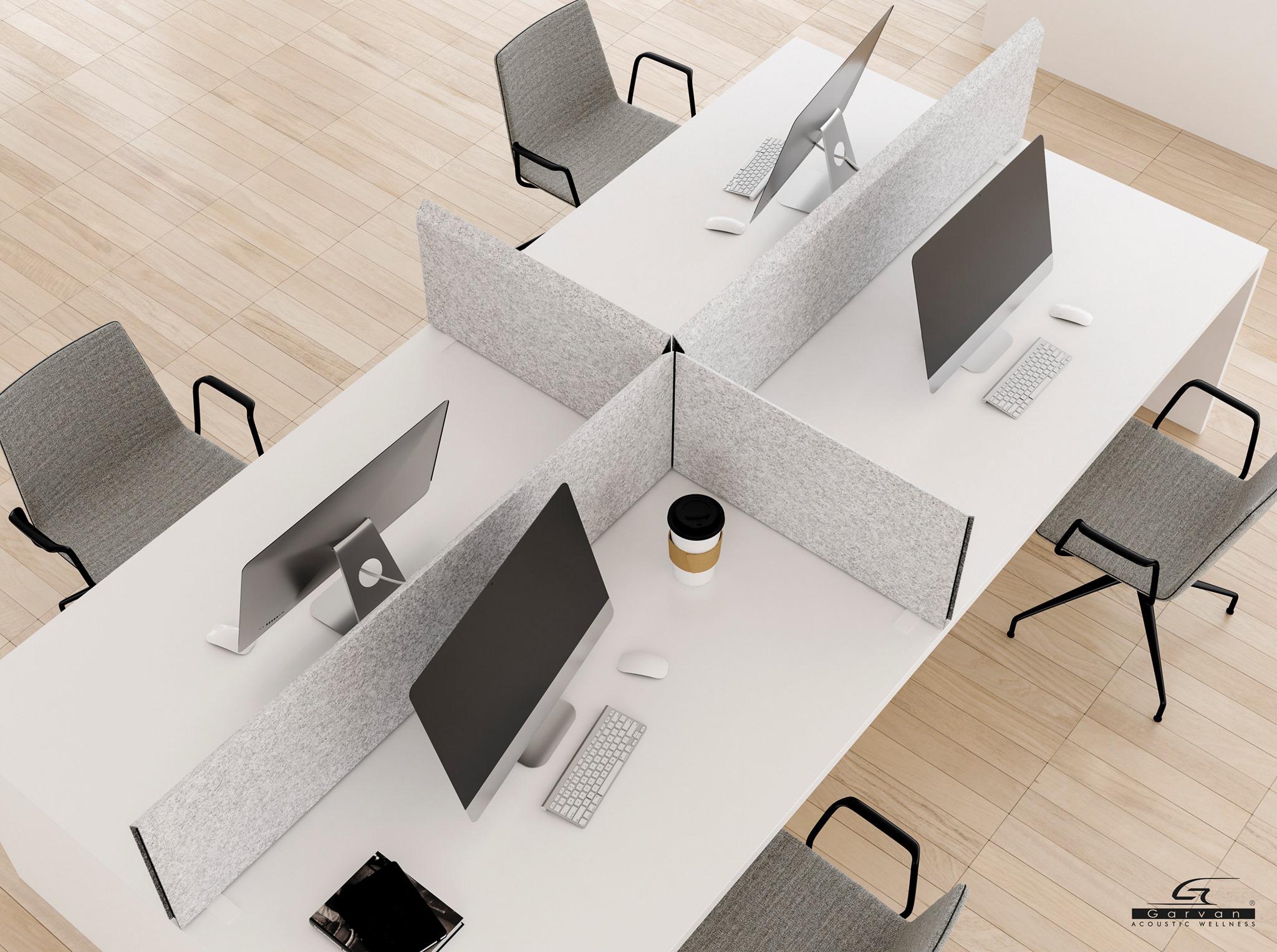 Acoustic panels for desk by Garvan