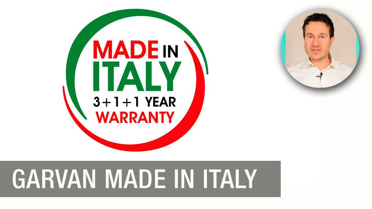 Garvan's products are Made in Italy