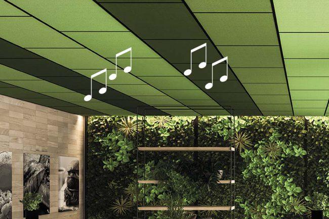 Quadra mit akustischem Lautsprecher
